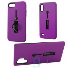 Чехол противоударный Metal Kickstand Soft Touch с держателем Huawei P30 Lite фиолетовый