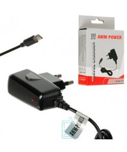 Сетевое зарядное устройство AWM Power 0.8A Type-C black