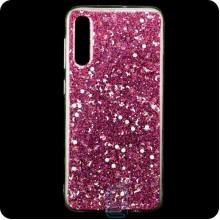 Чехол силиконовый Конфетти Samsung A50 2019 A505 розовый