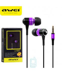 Наушники AWEI Q3 фиолетовые