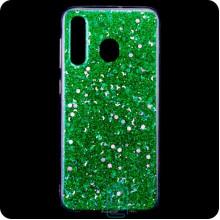 Чехол силиконовый Конфетти Samsung M30 2019 M305 зеленый