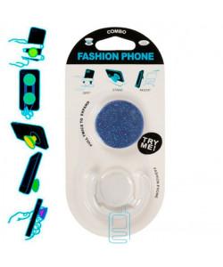 Держатель для телефона Popsocket ″Glitter″ с подставкой синий