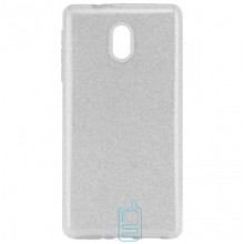Чехол силиконовый Shine Nokia 3 серебристый