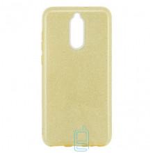 Чехол силиконовый Shine Huawei Mate 10 Lite золотистый