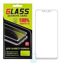 Защитное стекло Full Glue Huawei Nova 3, Nova 3i, P Smart Plus white Glass