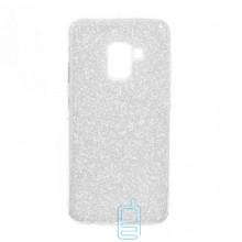 Чехол силиконовый Shine Samsung A8 2018 A530 серебристый