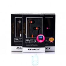 Наушники AWEI ES-Q3 розовые