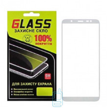 Защитное стекло Full Glue Samsung J8 2018 J810 white Glass