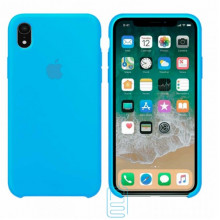 Чехол Silicone Case Apple iPhone XR голубой 16