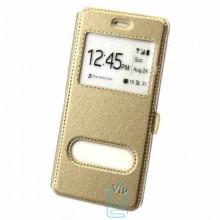 Чехол-книжка ViP 2 окна Huawei Y6 II золотистый