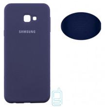 Чехол Silicone Cover Full Samsung J4 Plus 2018 J415 синий