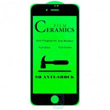 Защитное стекло Ceramics Anti-shock Apple iPhone 7, iPhone 8 black тех.пакет