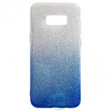 Чехол силиконовый Shine Samsung S8 Plus G955 градиент синий