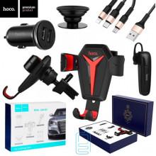 Держатель для телефона Hoco 5in1 Royal Car Set черный