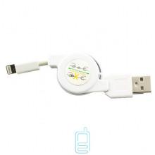 USB кабель рулетка iPhone 5S белый