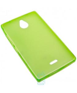 Чехол силиконовый цветной Nokia X2 Dual Sim зеленый
