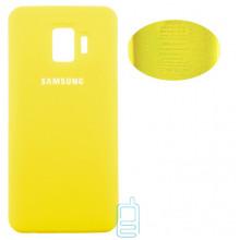 Чехол Silicone Cover Full Samsung J2 Core 2018 J260 желтый