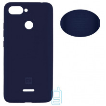 Чехол Silicone Cover Full Xiaomi Redmi 6 синий