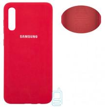 Чехол Silicone Cover Full Samsung A70 2019 A705 красный