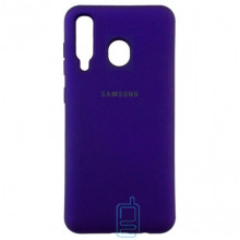 Чехол Silicone Case Full Samsung M30 2019 M305 фиолетовый