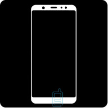 Защитное стекло Full Screen Samsung A6 Plus 2018 A605 white тех.пакет