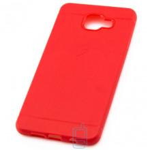 Чехол силиконовый Samsung A7 2016 A710 матовый красный