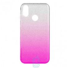 Чехол силиконовый Shine Xiaomi Mi6X, Mi A2 градиент розовый