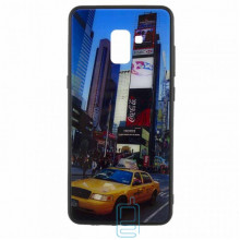 Чехол накладка Glass Case New Samsung A8 Plus 2018 A730 такси