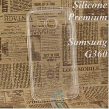 Чехол силиконовый Premium Samsung Core Prime G360, G361 прозрачный