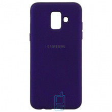 Чехол Silicone Case Full Samsung A6 2018 A600 фиолетовый