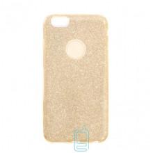 Чехол силиконовый Shine Apple iPhone 6, 6S золотистый