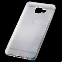Чехол силиконовый Samsung A7 2016 A710 матовый белый