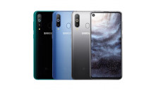 Чехол на Samsung Galaxy A8s + Защитное стекло