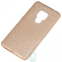 Чехол силиконовый Shine Huawei Mate 20 золотистый