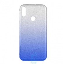 Чехол силиконовый Shine Xiaomi Redmi Note 7, Redmi Note 7 Pro градиент синий
