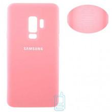 Чехол Silicone Cover Full Samsung S9 Plus G965 розовый