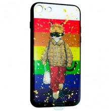 Чехол накладка Glue Case Apple iPhone 7, 8 Кот
