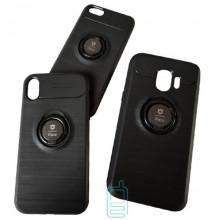 Чехол силиконовый iFace 3in1 AUTO FOCUS с кольцом Samsung Note 9 N960 черный