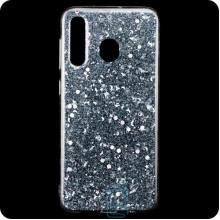 Чехол силиконовый Конфетти Samsung M30 2019 M305 серебристый