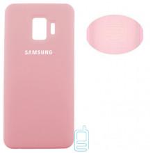 Чехол Silicone Cover Full Samsung J2 Core 2018 J260 розовый