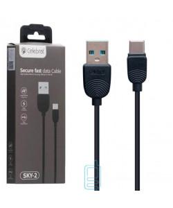 USB Кабель Celebrat SKY-2 Type-C черный