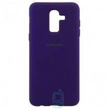 Чехол Silicone Case Full Samsung J8 2018 J810 фиолетовый