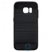 Чехол силиконовый Polished Carbon Samsung S7 Edge G935 черный