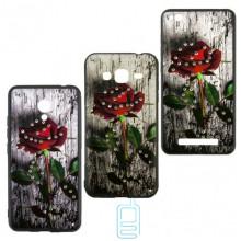 Чехол-накладка Flower Case Samsung J3 2017 J330 Bark Rose
