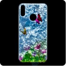 Чехол силиконовый Garden Huawei Y7 2019 бабочки