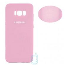 Чехол Silicone Cover Full Samsung S8 Plus G955 розовый