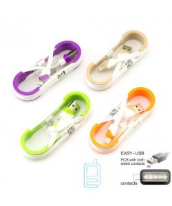 USB кабель Apple Lightning реверсивный коннектор USB 1m белый
