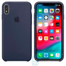 Чехол Silicone Case Apple iPhone XR темно-синий 08