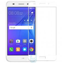 Защитное стекло Full Screen Huawei Y3 2017, Y3 2018 white тех.пакет