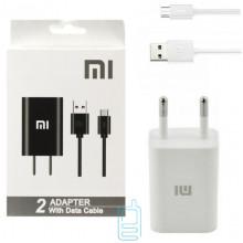 Сетевое зарядное устройство Xiaomi CH-P002 1USB 2.0A micro-USB white